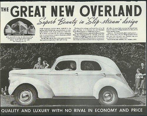 - Great New Overland Superb Beauty Slip-stream design ad 1939