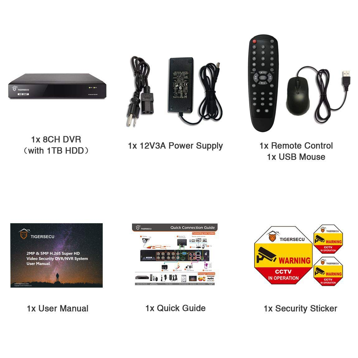 Amazon.com: TIGERSECU Super HD Sistema DVR de seguridad de ...