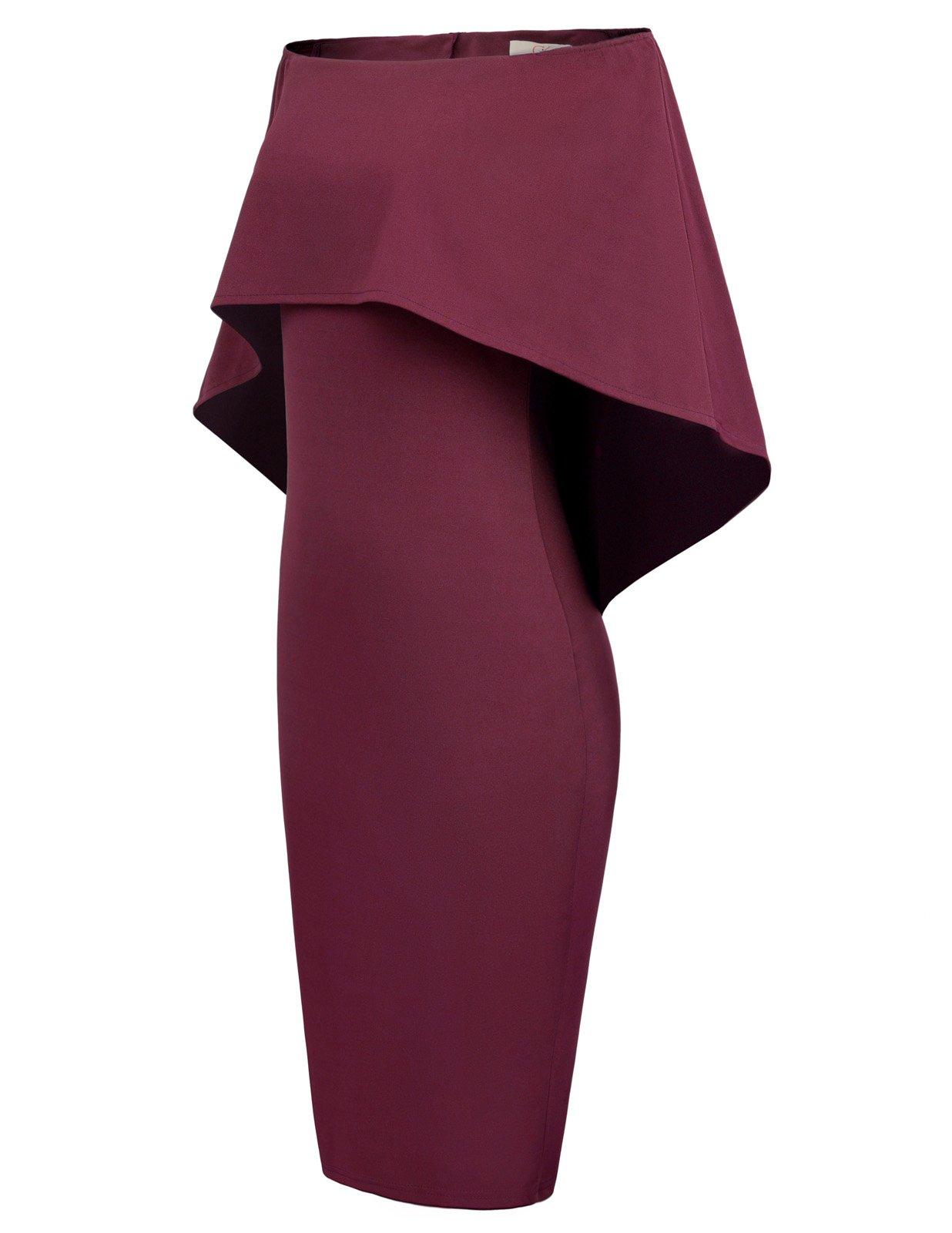 4f1eadedc4 GRACE KARIN Women Off Shoulder Batwing Cape Midi Dress. by GRACE KARIN. GRACE  KARIN Women Knee Length ...