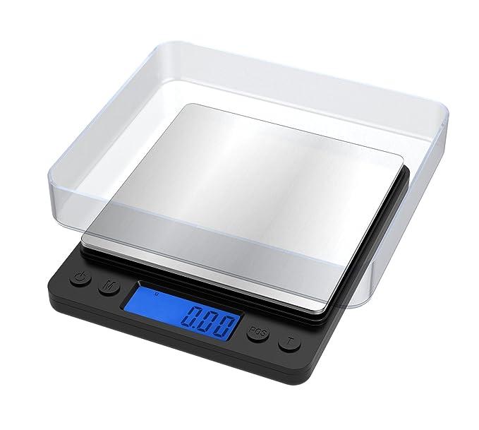 108 opinioni per 500 g/0,01g, Ascher Bilancia digitale di precisione Elite 1000g, Digital Pro