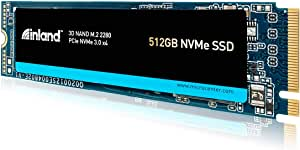 Inland Premium 512GB 3D NAND M.2 2280 PCIe NVMe 3.0 x4 Internal Solid State Drive, Read/Write Speed up to 3100MB/s and 1900MB/s