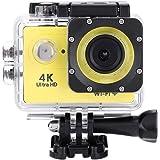 アクションカメラ Acouto 4K HD 高画質 スポーツカメラ WiFi搭載 防水 運動カメラ 140度広角レンズ 2インチ液晶画面 リモコン付き ウェアラブルカメラ アクションカム