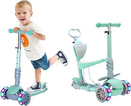 Oferta amazon: Baobë 5 en 1 Scooter para Niños, Scooter Ajustable para Niños Pequeños de 1 a 6 Años de Edad. Niños y Niñas Apoyan 50 Kg