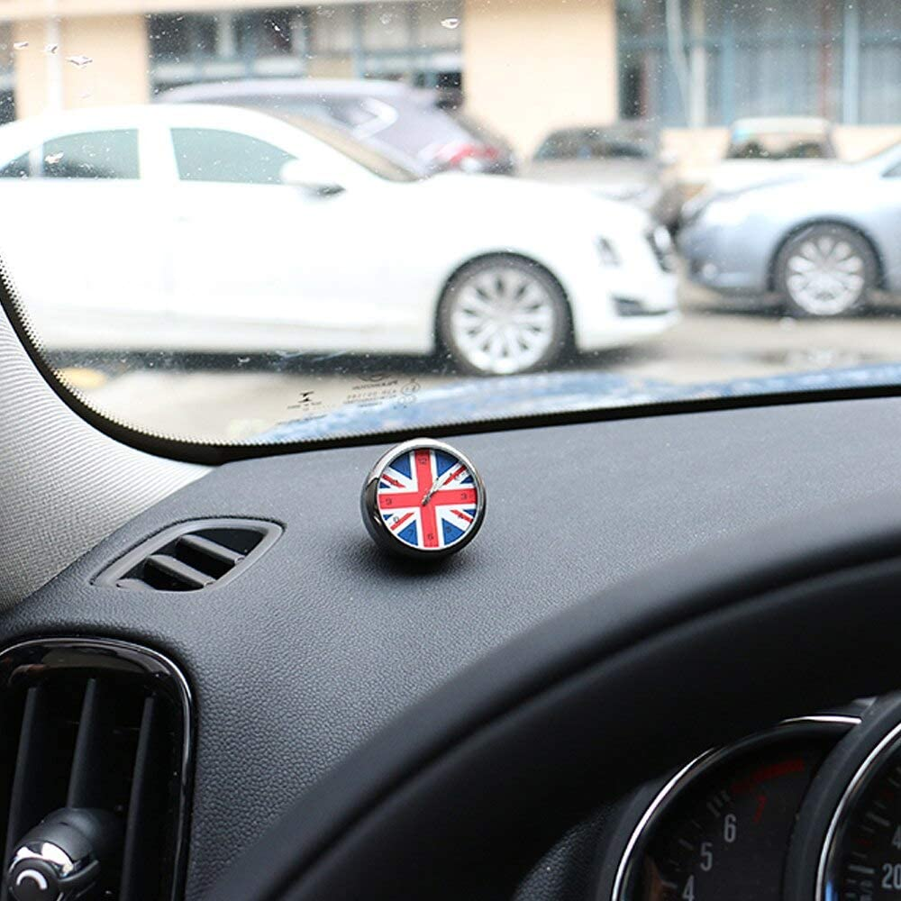 kgftdk Auto Armaturenbrett Dekoration Auto Ornament Uhr Mini Auto Uhr Auto Armaturenbrett Dekoration Fahrzeug Interieur Digital Pointer Clock Decor Zubeh/ör