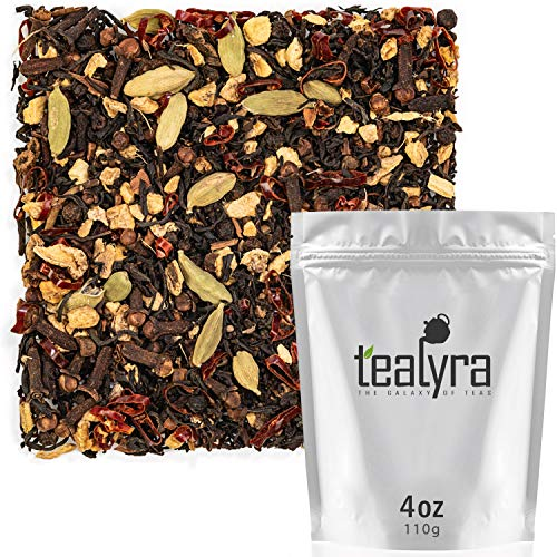 Tealyra - Spicy Chili Pepper Chai - Black Tea - Ginger - Cardamom - Cinnamon - Vanilla - Warm Spicy Loose Leaf Tea - 112g (4-ounce)