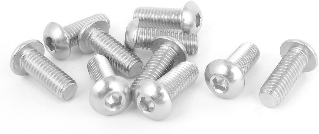 "10pcs 3//8/""-16x1/"" Stainless Steel Hex Socket Button Head Bolts Screws"