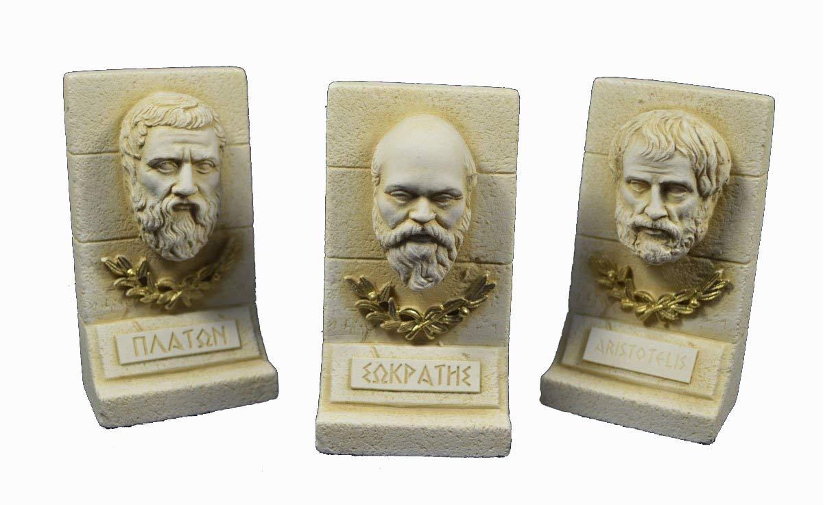 Socrates plato Aristotele scultura set greca antica Philosophers Estia Creations