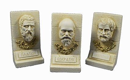 Sócrates plato Aristóteles Escultura Set filósofos de la antigua Grecia