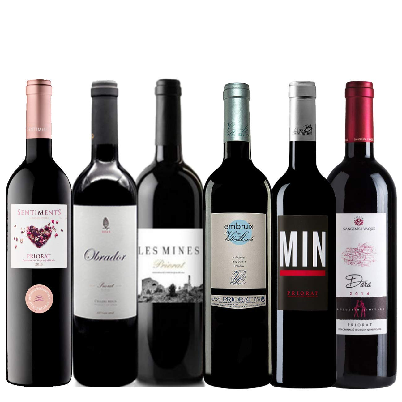 Pack Vino Tinto de la DO Priorat   Vinos Garnacha - Reserva   Vino Tinto 6 botellas 75cl.