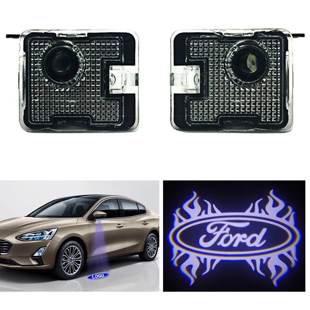 Car Side Mirror Puddle Light,Welcome Lights Projector Ghost Shadow Led Lamp for F150 FX4 // EDGE//Explprer//Taurus Accessories(A3)