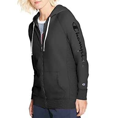 0be04b03d6a Champion Women's Heritage French Terry Zip Hoodie, Script Logo at Amazon  Women's Clothing store: