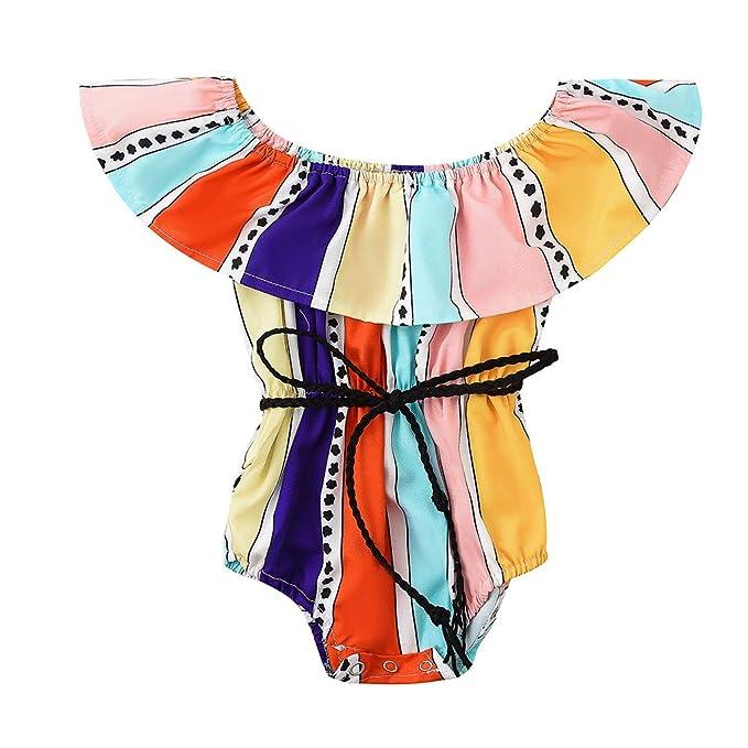 HEETEY Pijama para niña, recién Nacido, niño, niña, Volantes, Mangas ...