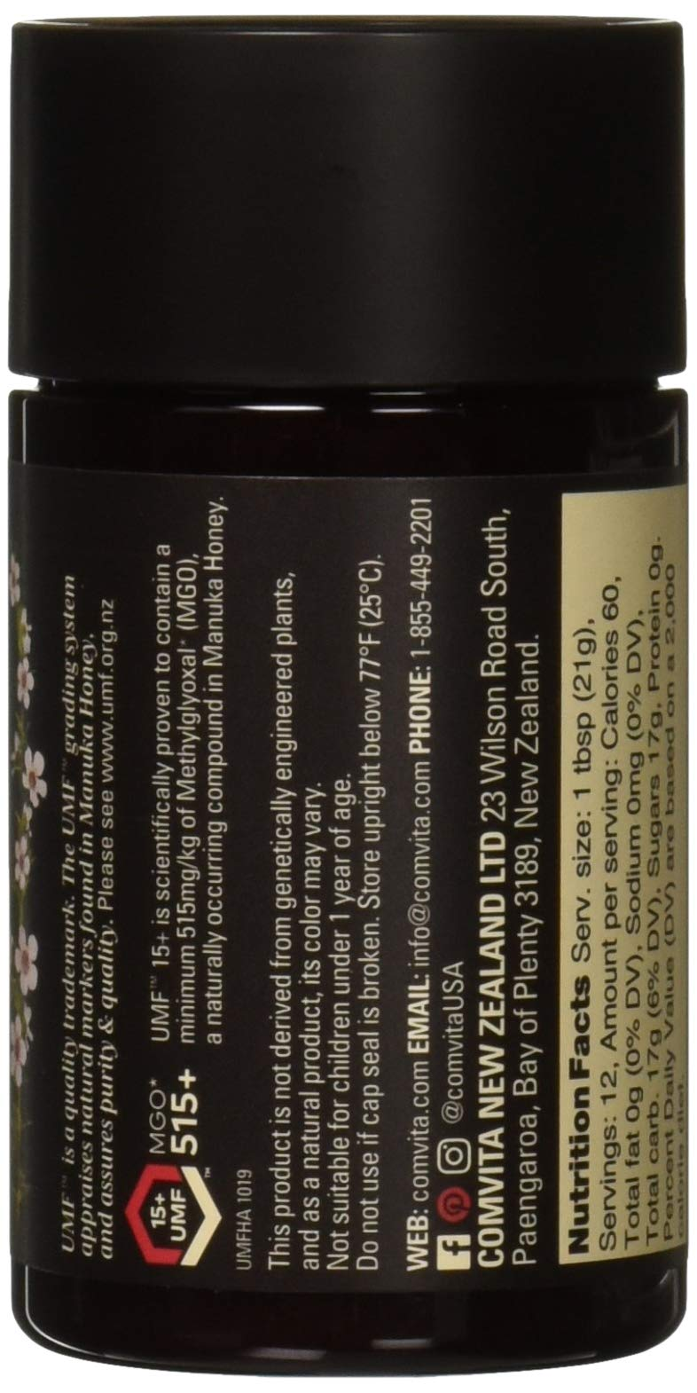 Comvita UMF 15+ (MGO 514+) Raw Manuka Honey | 8.8 oz I New Zealand's #1 Manuka Brand | Wild, Non-GMO I Super Premium Grade by Comvita (Image #3)