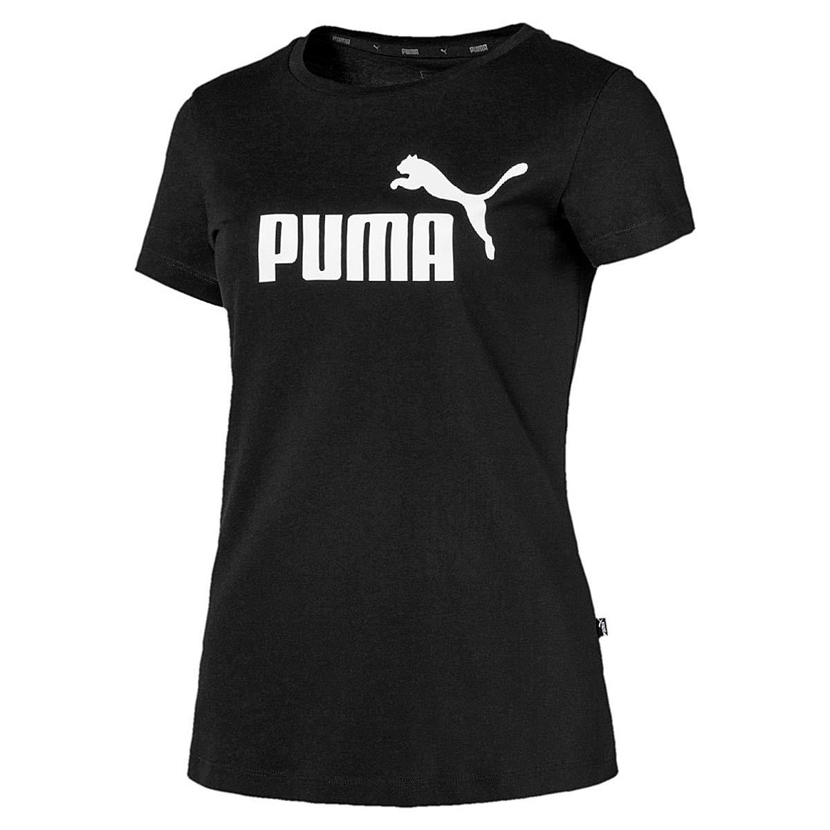 8e9c5b85 Amazon.com: PUMA Women ESS Essential Logo Tee black T-shirt 851787 01:  Clothing