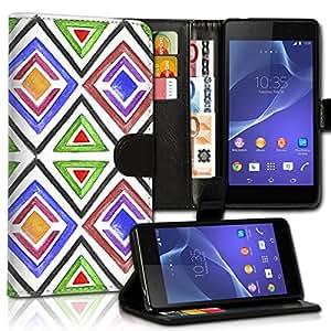 wicostar Wallet Funda Case Funda Carcasa diseño Funda para Samsung Galaxy S6SM–G920–Diseño Flip mvd33
