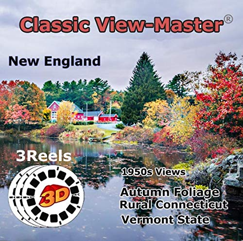 New England - Rural Connecticut, Vermont, Autumn Foliage - Classic ViewMaster - 3 Classic Vintage 3D Reels - 1950s Views