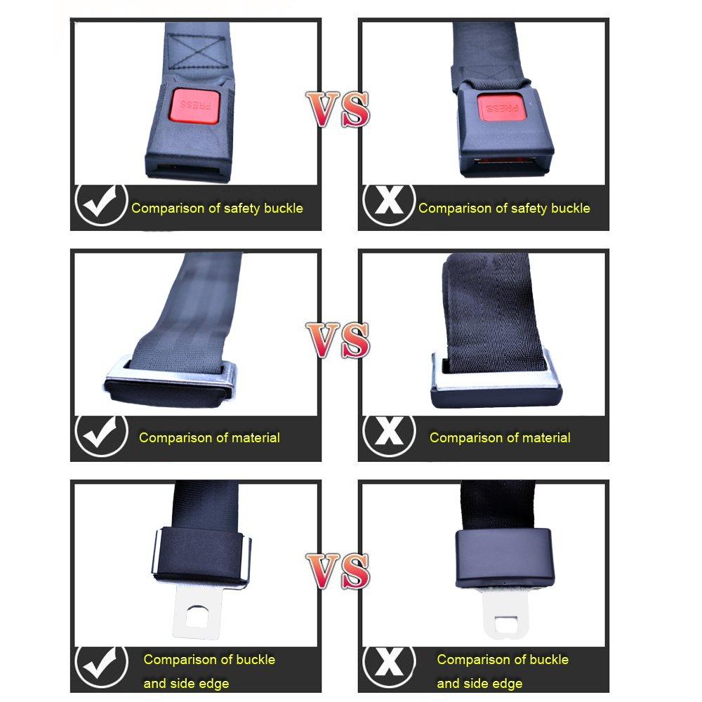 FLYPIG 2 Point Adjustable Car Seat Safetey Belt Harness Kit Single Double Seat For Go Kart UTV Buggie