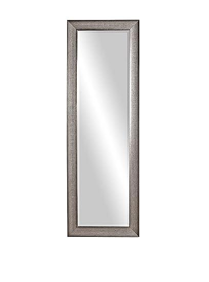 72 inch mirror dark brown bathroom howard elliott 69048 maverick rectangular mirror 24 72inch textured silver amazoncom