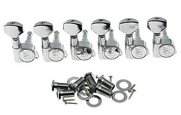 EZ POST Gold Wilkinson 6 In Line EZ-LOK Locking TUNERS 19:1 WJN07-GD