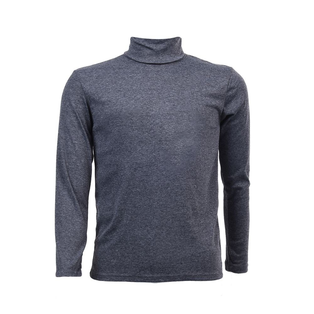 SODIAL(R) Mode Hommes Automne Hiver Col Roule Sweater-Shirt Motif solide Pull Gris Fonce XL