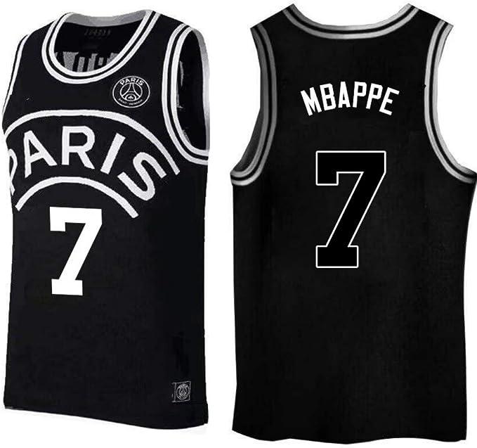 Amazon.com: Kylian Mbappe,Camiseta de baloncesto, PSG, nuevo ...