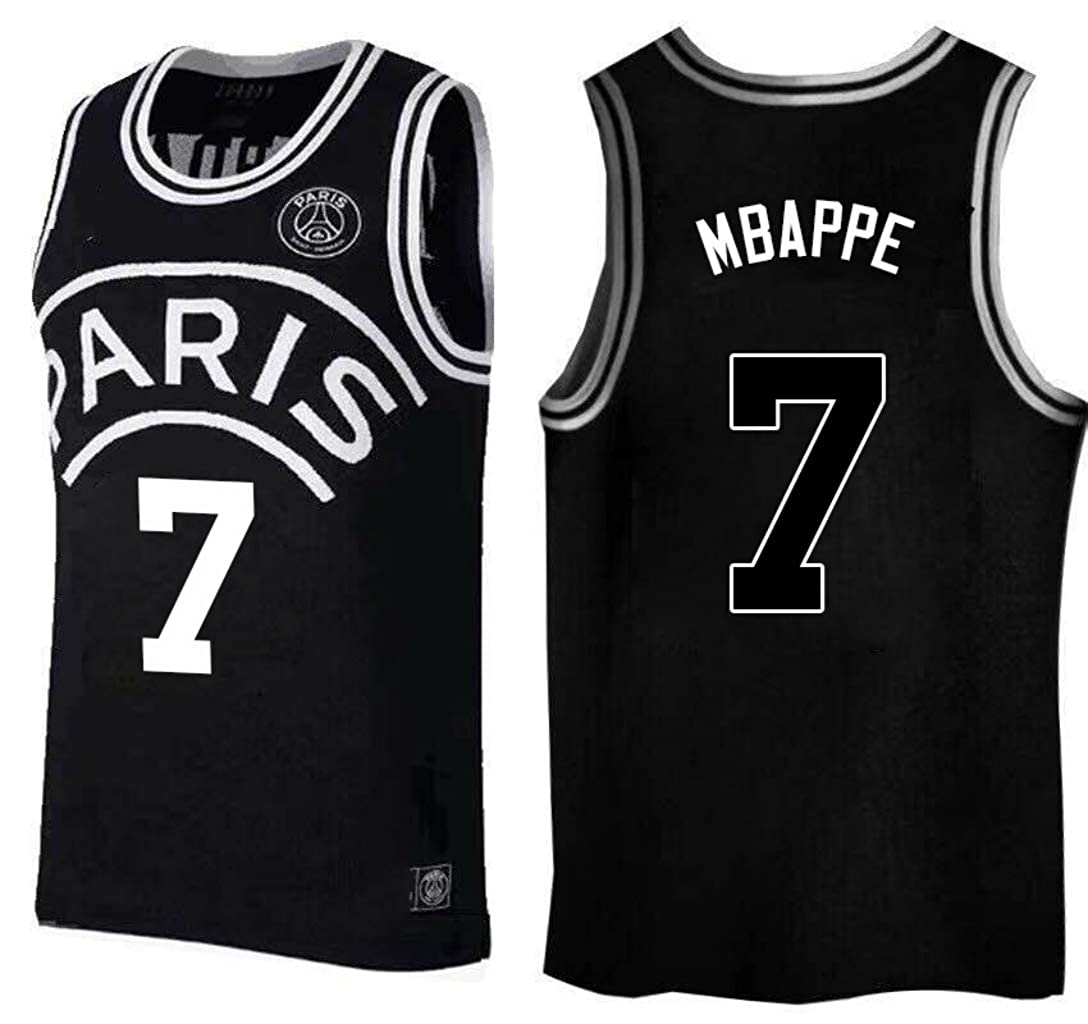 low priced cacc8 aacdf Amazon.com: Kylian Mbappe,Basketball Jersey,PSG, New Fabric ...