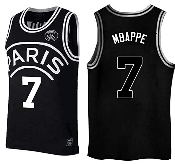low priced 7cb94 f2440 Amazon.com: Kylian Mbappe,Basketball Jersey,PSG, New Fabric ...