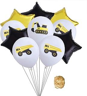 Palloncini da 12 pollici Set Digger Palloncini in lattice stampati Golden Black Stars Palloncini in alluminio Foil Balloon Kit Decorazioni per feste per feste (colore casuale)