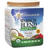 Sunwarrior - Warrior Blend, Raw, Plant-Based, Organic Protein, Mocha, 20 Servings (1.1 lbs)