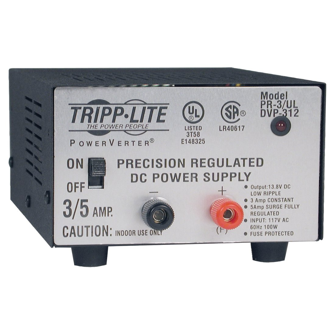 Tripp Lite Pr 3ul Dc Power Supply 3a 120v Ac Input To Simple 8amp Regulated Circuit Diagram 138 Output Ul Certified Electronics