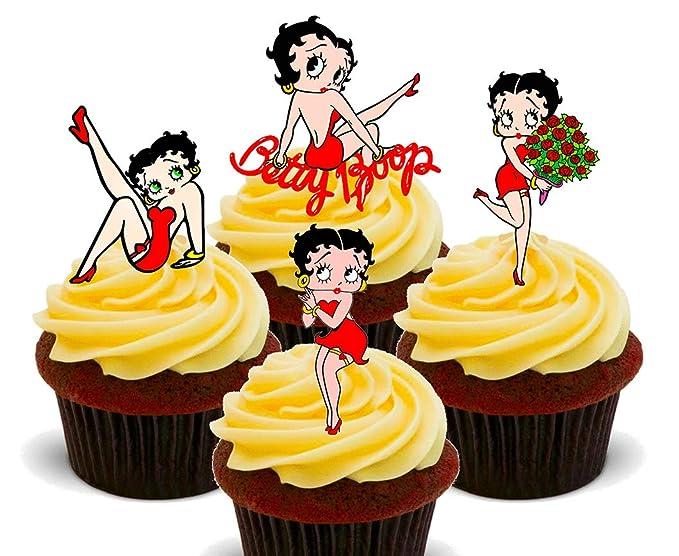 Betty Boop de cupcakes comestibles decoración para tartas con ...