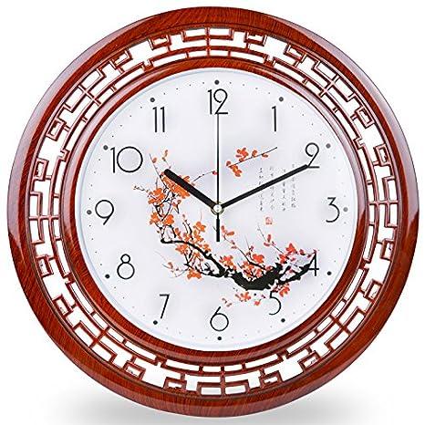 Ping0fm Relojes antiguos chinos salón dormitorio oficina reloj reloj de cuarzo de silencio creativo minimalista China