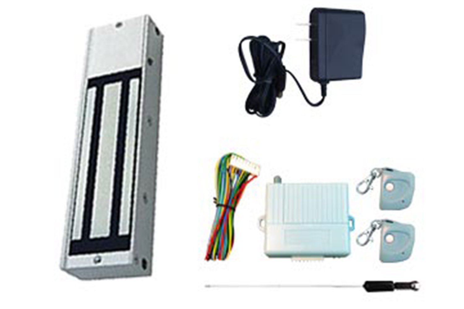 One Door Magnetic Lock Kit 1200Lbs Hold Force with Remote Control Transmitters & Receiver