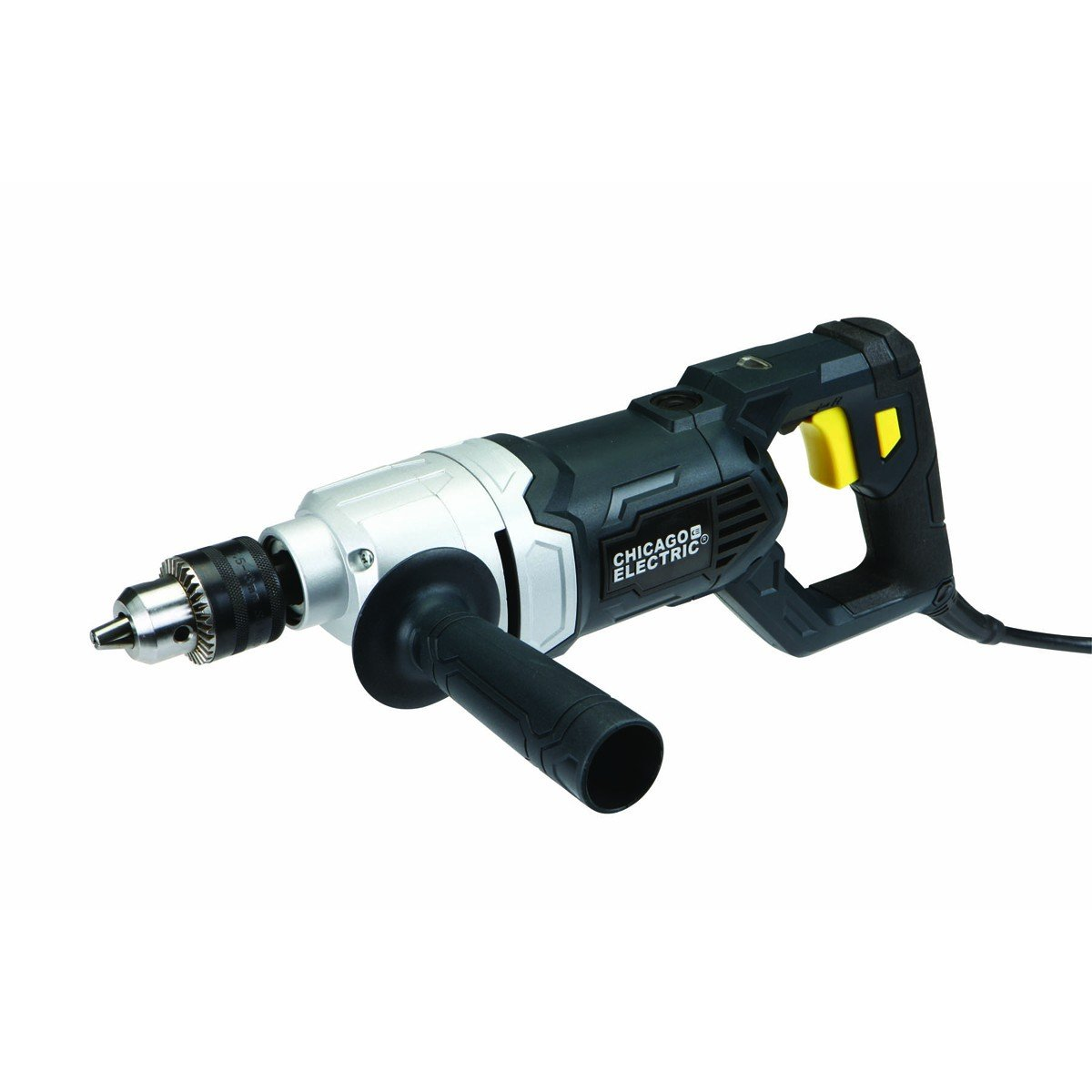 Chicago Electric Power Tools 1/2'' Variable Speed Reversible Heavy Duty D-Handle Drill