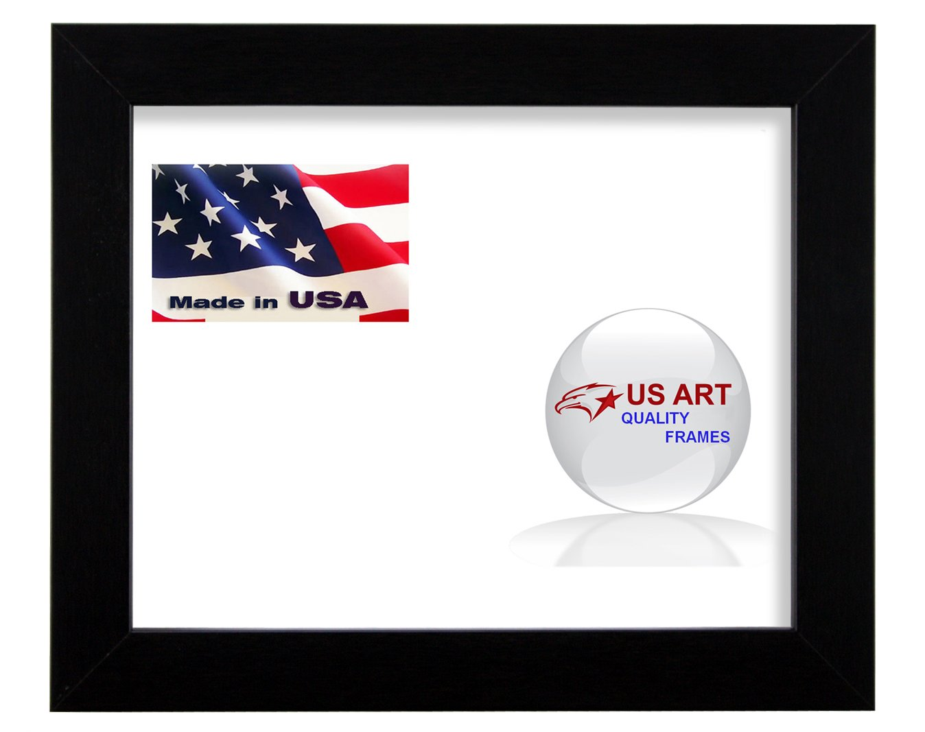 3x3 Custom Satin Black Wrapped Finish Picture Poster Photo Frame Wood Composite Mdf 1.25 inch Wide Moulding US Art