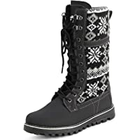 Polar Products Womens Winter Thermal Snow Outdoor Warm Mid Calf Waterproof Durable Boot