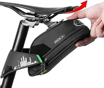 Amazon.com: Rock Bros - Bolsa para asiento de bicicleta ...