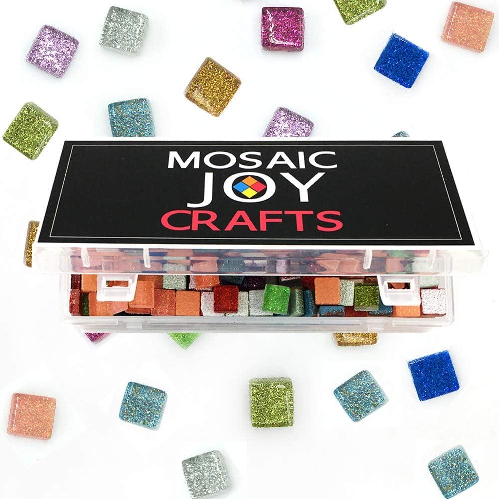 Blue Mixed PALJOLLY 200g Mosaic Tiles Crystal Ceramic Mosaic Irregular Shape 0.6x1.2 inch for Mosaics Art and Decoration