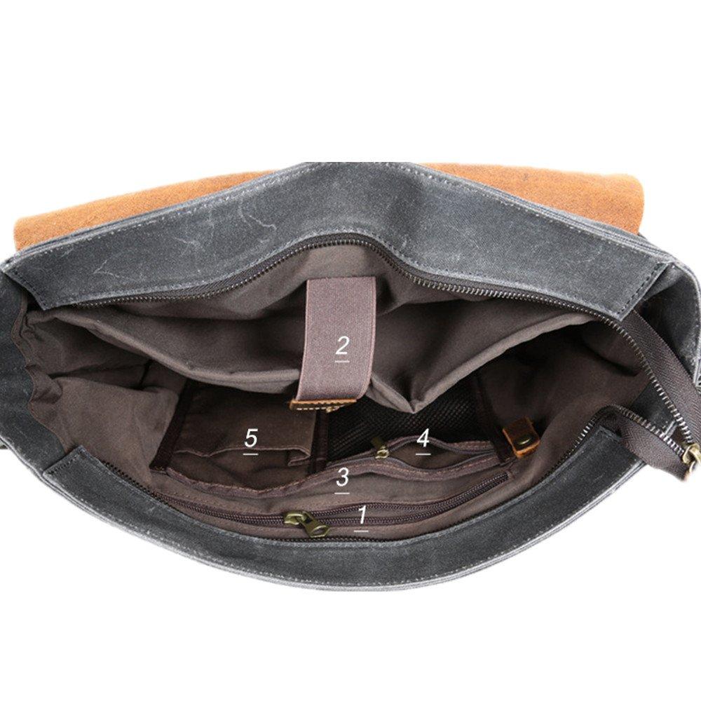 Color : Brown Multi-Color Optional MLMHLMR Mens Shoulder Bag Canvas Bag Retro Mens Bag Portable Briefcase Diagonal Bag Male 38x26x7cm Briefcase