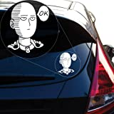 "Saitama One Punch Man Vinyl Decal Sticker for Car Window, Laptop and More. # 927 (8"" x 8.8"", White)"