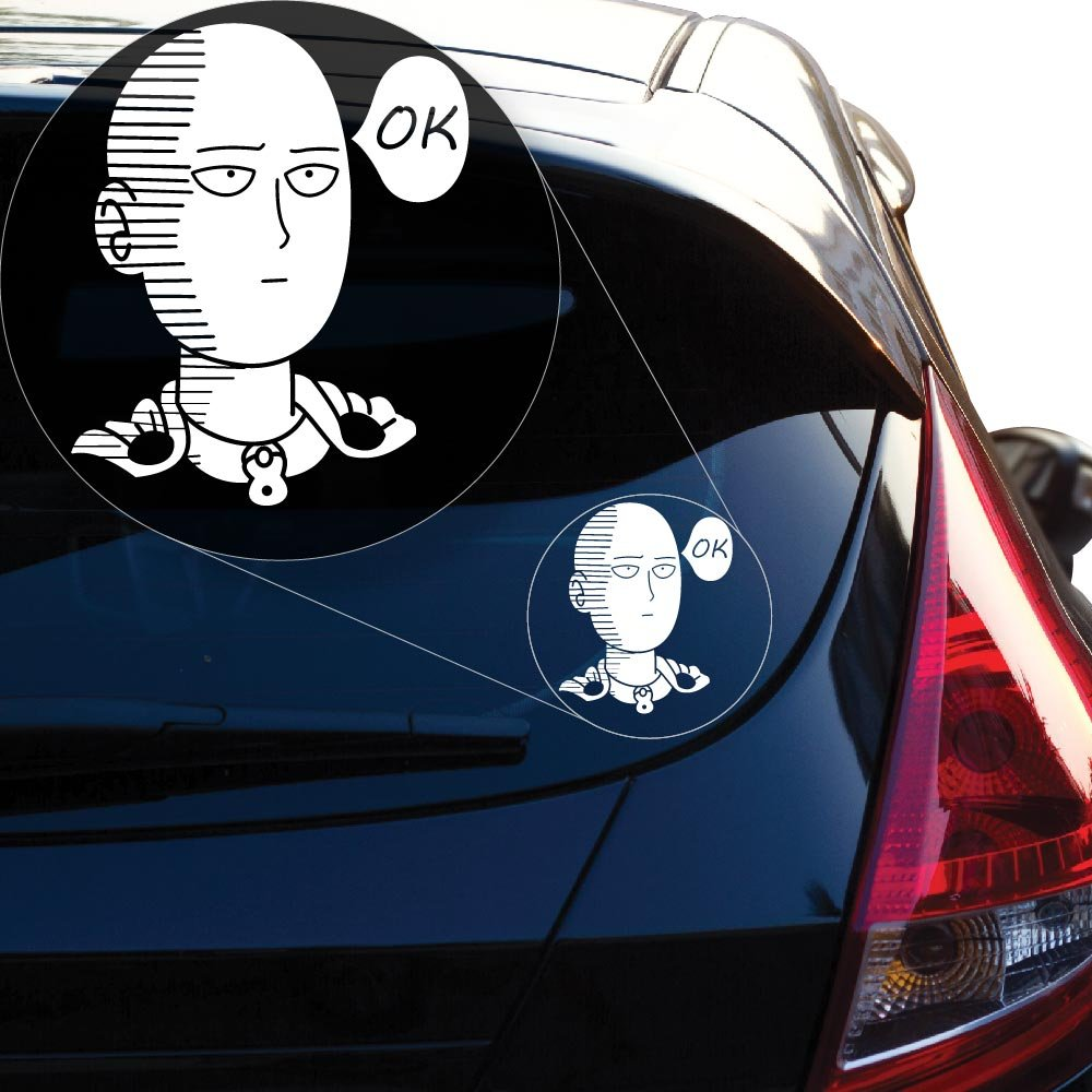 Amazoncom Saitama One Punch Man Vinyl Decal Sticker For Car - Car window decal stickers for guys