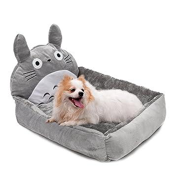 Sofá cama para mascotas, con diseño de dibujos animados, con cojín extraíble, ideal