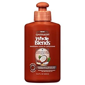 Garnier Whole Blends Smoothing Leave-in Conditioner, Coconut Oil & Cocoa Butter 10.2 Fl Oz (1 Count)
