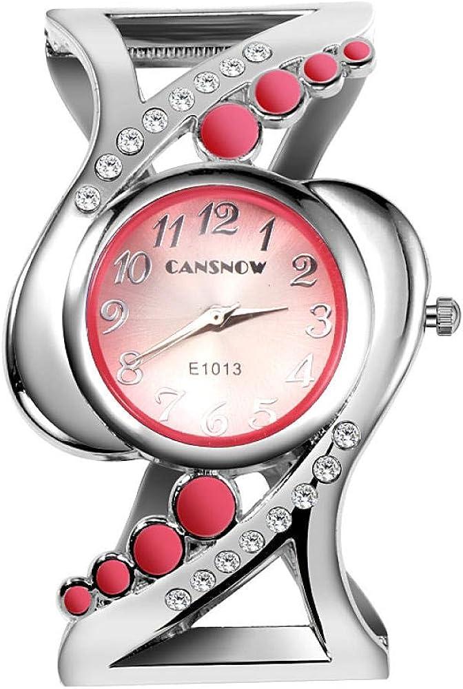 GWXFDZ Reloj De Mujer Especial Reloj De Pulsera De Mujer Reloj De Diamantes De Imitación De Cuarzo Hora Exacta Familia De Niño,Pink