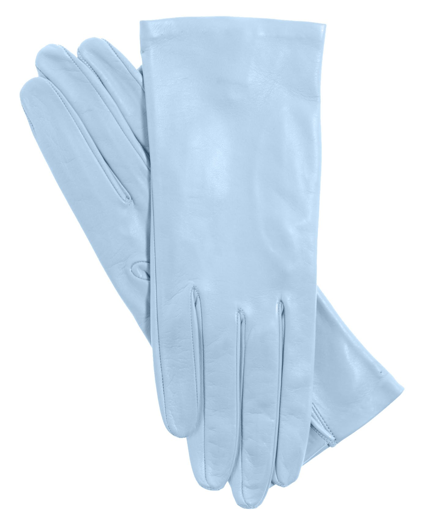 Fratelli Orsini Women's Italian Silk Lined Leather Gloves Size 6 1/2 Color 41-Celeste
