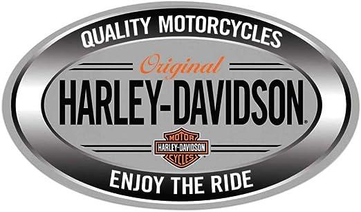 Amazon.com: Harley-Davidson 2011591 - Cartel ovalado de lata ...