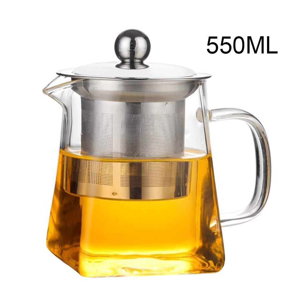 iSuperb Tetera de Vidrio 750 Mililitro Transparente Tetera de /émbolo con Infusor Resistente al Calor con Acero Inoxidable Infusor Filtro Varios Usos Glass Teapot