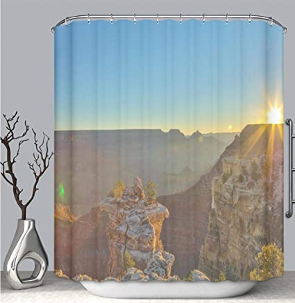 BEICICI Color Shower Curtain Liner Anti Mildew Antibacterial South Rim Grand Canyon HDR Photo