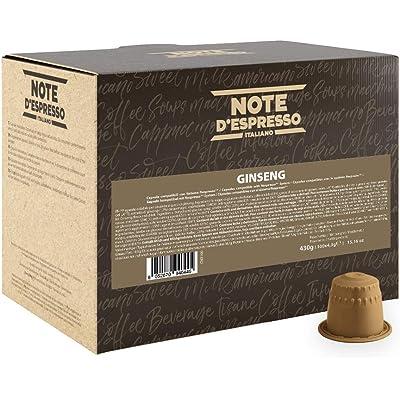 Note D'Espresso - Cápsulas de bebida instantánea de ginseng, 4,3g (caja de 100 unidades) Exclusivamente Compatible con cafeteras Nespresso*