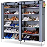PAffy Shoe 12 Shelf Cloth Cabinet, Shoe Rack Organiser, Color – Random